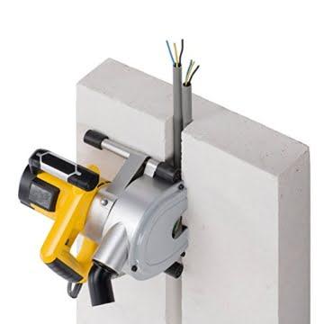 Mauernutfräse Schlitzfräse Mauerfräse mit 1.800 Watt Leistung 150 mm Diamanttrennscheiben – Art. POWX0650 -