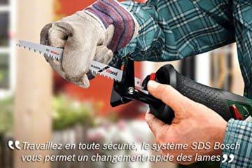Bosch DIY Akku-Säbelsäge PSA 18 LI, ohne Akku, 1 Sägeblatt S3456 XF, Karton (18 V, 2,5 Ah, 100 mm Schnitttiefe in Holz, 20 mm Schnitttiefe in Stahl) -
