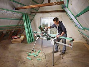 Bosch DIY Kapp- und Gehrungssäge PCM 8, Arbeitsklemme, Kreissägeblatt Optiline Wood, Staubbeutel, Karton (1200 W, Kreissägeblatt Nenn-Ø  216 mm) -