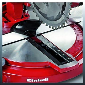 Einhell Kapp Gehrungssäge TC-MS 2112 (1400 W, Sägeblatt Ø 210 mm, Schnittbreite 120 mm, schwenkbarer Sägekopf) -