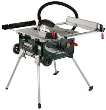 Metabo Tischkreissäge TS 254 / mobile Kreissäge mit Untergestell, Trolleyfunktion und extra starkem 2000 W Motor, Arbeitshöhe 850 / 335 mm -