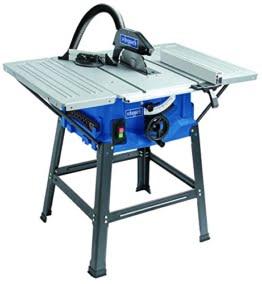 Scheppach Tischkreissäge 250-er Set, 230 V, 2000 W mit 2 Tischverbreitungen und Untergestell, HS100STVB -