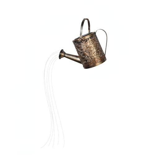 KYHSOM Star Shower Solar Led Lichterkett, Außen Star Shower Garden Art Gießkanne Lichterkette Solar Gießkanne Fairy Garden Light Outdoor Wasserfall Lichterkette (Dusche + Lampe)