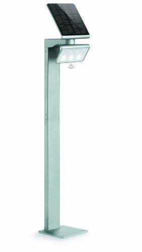 Steinel LED Solarleuchte XSolar GL-S silber, höhenverstellbar, 150 lm, 140° Bewegungsmelder, 5 m Reichweite,...