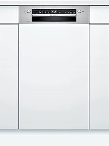 Bosch SRI4HKS53E Serie 4 Geschirrspüler Teilintegriert, 45 cm breit, Besteckkorb, Silence Programm besonders leise, Extra Trocknen auf Knopfdruck, IntensivZone mit starkem Spüldruck