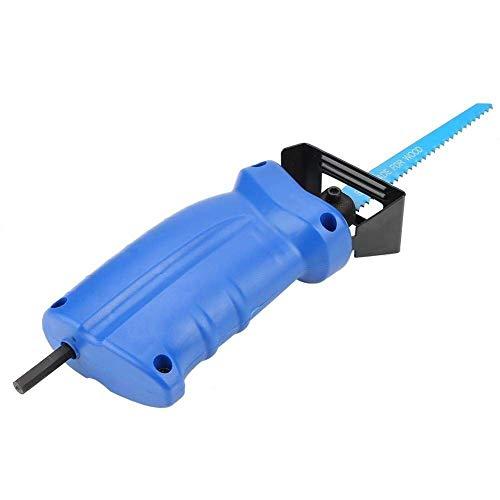 IGOSAIT Dauerhaft Säbelsäge Set, beweglicher Säbelsäge Adapter Bohrmaschine mit Säbelsägeblätter und Schlüssel for Holz, Metall Cutting Widerstand