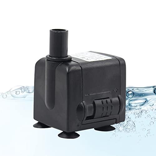 sunyu Aquarium Wasserpumpe Springbrunnenpumpe, 6W 450L/H Leiser Teichfilter mit Einstellbarem Schalter und 2 Düsen