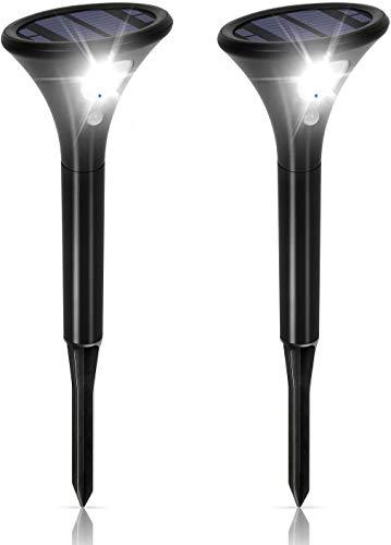 Solarlampe für Außen, Solarleuchten Garten Sehr Hell mit Bewegungsmelder [2 Stück], 2 Modi IP65 Wasserdicht...