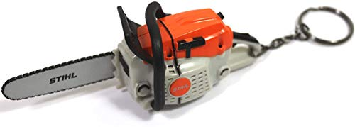 Stihl Schlüsselanhänger Kettensäge 04209600003 Motorsäge mit Geräusch inkl. Batterien