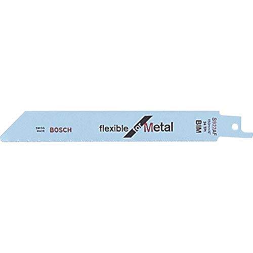 Bosch Professional 5 Stück Säbelsägeblatt S 922 BF Flexible for Metal (für Metall, 150 x 19 x 0,9 mm, Zubehör Säbelsäge)