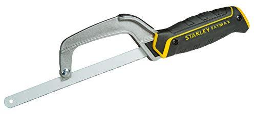 Stanley 0-15-211 Fatmax Mini-Metallsäge (kompakt, mit verstellbarer Blattlänge, feine Zahnung für die Bearbeitung von Metall und Kunststoff)