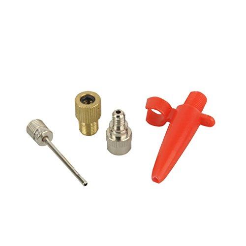 FISCHER Unisex Luftpumpen-adapter-set 4tlg Luftpumpen Adapter Set, silber,Einheitsgröße EU