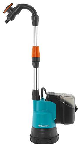 Gardena Regenfasspumpe 2000/2 Li-18 ohne Akku: Tauchpumpe mit integriertem Filter, Fördermenge 2000 l/h, 3 Leistungsstufen (1749-66)