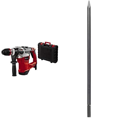 Einhell Bohrhammer TE-RH 38 E (1050 W, 9 J, Bohrleistung Ø 38 mm, SDS-Max-Aufnahme, Metall-Tiefenanschlag, Virbrationsdämpfung mit Andruckanzeige, Koffer, inkl. SDS max Spitzmeißel)