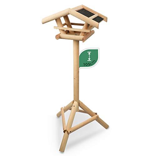 Wildlife Friend | Vogelhaus mit Ständer aus Holz, Futterhaus, Futterstation für Wildvögel, Vogelfutterhaus...