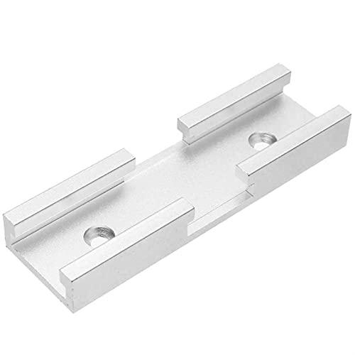 Lixiaonmkop T-Slot Aluminium-Slot-Gehrungs-Spur-Schieberegler-Stecker für Router-Tabelle Bandsägen DIY...