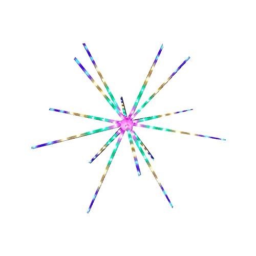SJUN Solar-Feuerwerk Lichter 112 LEDs Starburst Lichter, Kupferdraht Outdoor Garten Lichter Wasserdicht Wegeleuchte für Terrasse Rasen Hinterhof Landschaft Hochzeit Party