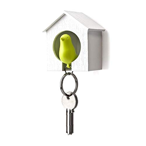 Creative-Vogelhaus Whistle Hauptwand-Schlüsselring-Rack-Fob Vogel-Nest-Schlüsselanhänger Halter-Schlüsselring Schmücken Für Paare 1PC