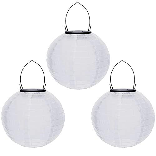 Allegorly LED Solarlaterne für Außen Solar Lampions 20cm Rund Ballform Lampenschirm Bunt Solarlaterne Wasserdicht Hängende Gartenlaterne Garten Deko Papierlampen für Garten Party Dekoration