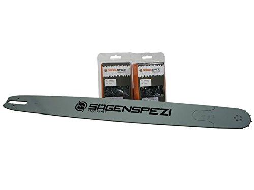 90cm Sägenspezi Schwert-Set Solid Drive mit 2 Vollmeißelketten 3/8' 114TG 1,6mm passend für Stihl 066 MS660...