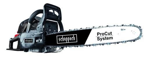 scheppach Benzin Kettensäge CSH56 Motorsäge Benzinsäge mit 51cm ProCut Schwert | 3,13 PS Leistung | 56ccm Hubraum | 470mm Schnittlänge