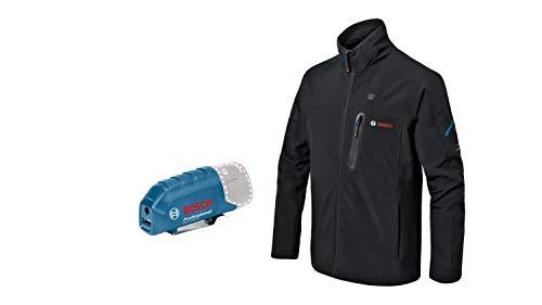 Bosch Professional Beheizbare Jacke GHJ 12+18V XA (inkl. USB-Ladeadapter GAA 12V-21, ohne Akku, im Karton)