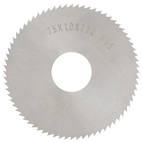 3-Zoll-Holzschnitt-Kreissägeblätter, 72 Tischkreissägeblätter, ultrafeine Verarbeitung, Hochgeschwindigkeitsstahl-Trennscheibe-Kreissägeblatt zum Holzschneiden
