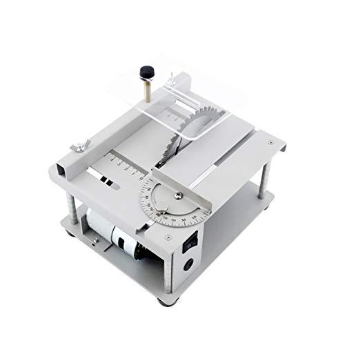 Kstyhome 150W Multifunktionale Tischkreissäge Mini Desktop-Sägeschneider Elektrische Schneidemaschine mit Sägeblatt Winkeleinstellung mit einstellbarer Geschwindigkeit 40 mm Schnitttiefe