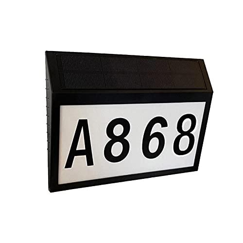 Solarhausnummer Hausnummer LED Solarleuchte Solar Solarbetrieben, Adressschild Für Häuser, Briefkasten, Straßenhof