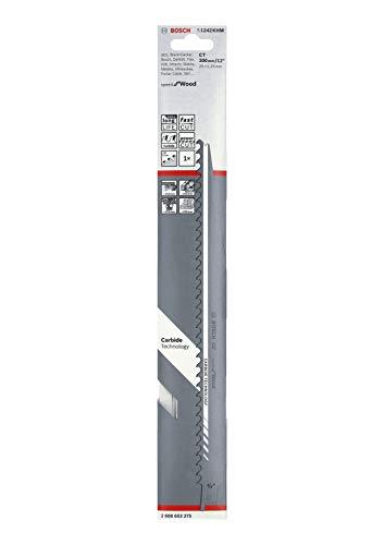 Bosch Professional Säbelsägeblatt S 1242 KHM Speed for Wood (für Holz, 300 x 25 x 1,25 mm, Zubehör Säbelsäge)