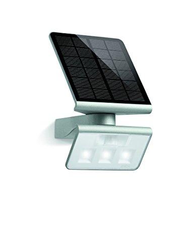 Steinel Solar-Außenleuchte XSolar L-S silber, 140° Bewegungsmelder, 8 m Reichweite, für Garten, Terrasse...