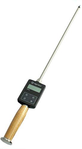 AGRETO HFM II Heufeuchtemesser, Strohfeuchtemesser, Sondenlänge 50 cm, professionelles Messgerät, Feuchtigkeitsmessgerät, extrem robust, Kontrolle von Heu und Stroh, 5 Jahre Herstellergarantie