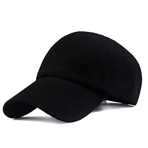 HutBaseball Kappe Marke Baseballmütze ausgestattet Hut einfarbig Freizeitmützen hochwertige Unisex Hut Männer Frauen Mütze Hip Hop Hysteresenhüte schwarz