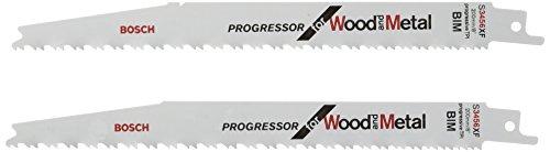 Bosch Professional Säbelsägeblatt S 3456 XF Progressor for Wood and Metal (für Holz und Metall, 200 x 19 x 1,25 mm, Zubehör Säbelsäge)