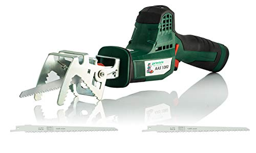 Akku Astsäge Säbelsäge Universalsäge AAS 1080 mit 10,8 V 2,0 Ah Akku, 2700 min, 80 mm Schnittlänge, 20 mm...