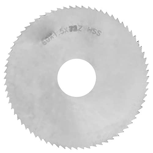 2-2/5 Zoll 72 Zähne HSS-Schneidblatt,Silber Tischkreissägeblatt Schneiden,Trennscheibe Holzschneiden Kreissägeblatt