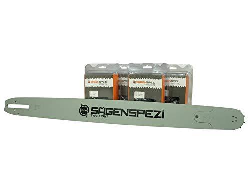 75cm Sägenspezi Schwert-Set Solid Drive mit 4 Vollmeißelketten .404' 91TG 1,6mm passend für Stihl 084 088...