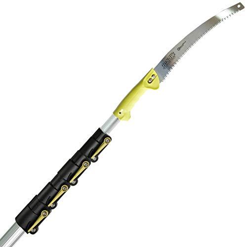 DocaPole 2,1-9,1 m Ständersäge/DocaPole Verlängerungsstange + GoSaw-Befestigung/Einsatz an einer Stange oder von Hand/Lange Streckensäge/Teleskop-Baumstammstange/Ausziehbare Astsäge und Trimmer