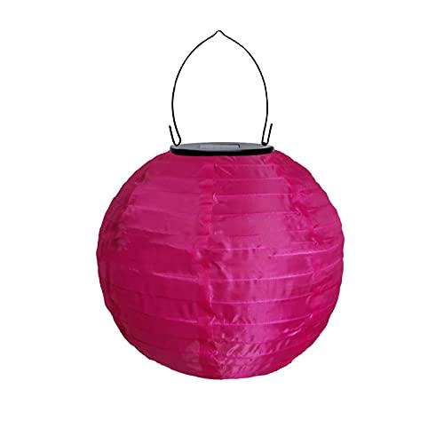 MILONT LED Solarlaterne für Außen Solar Lampions Rund Ballform Lampenschirm Bunt Solarlaterne Wasserdicht Hängende Gartenlaterne Garten Deko Papierlampen Nylonstoff Laterne 25cmx35cm 1PC