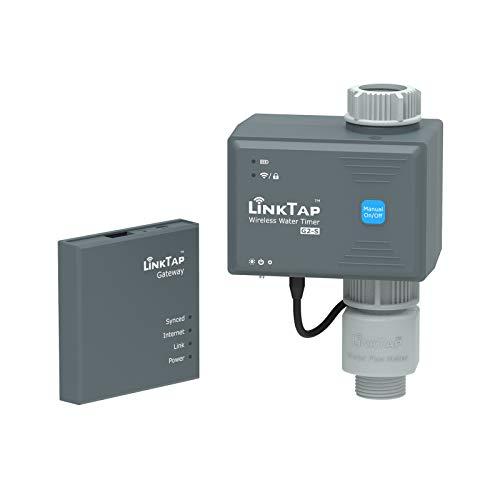 LinkTap G2S Drahtlose Bewässerungscomputer, Gateway, Wassermengenzähler - Automatische Bewässerungsuhr IP66 mit App für Garten, Größere Reichweite Als WiFi, Echtzeit-Fehlererkennung & Benachrichtigung
