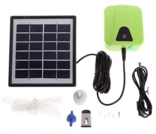 Rubor Solar Teichbelüfter Professional Sauerstoffpumpe Solar-sauerstoff-pumpe wasserdichte USB-Oxygenator Luftsauerstoffpumpe Belüfter Für Garten, Aquarien, Teich(Grün)