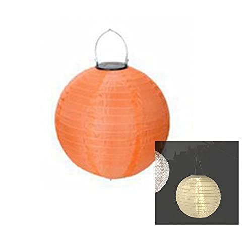 Rund Lampions Solar Außen, Solar Lampions wetterfest Lampions, Hängende Solar Lampions für außen Hochtzeit Kirche Garten Dekoration, Solar Laterne (orange,20 cm)