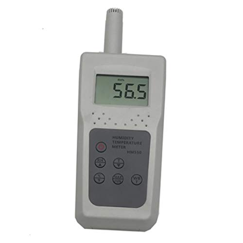 Taupunktmesser Feuchtigkeitsmessgerät HM550 mit Feuchtigkeit Temperatur Feuchtkugeltemperatur Anzeige Gas Temp Feuchte Prüfgerät for Lebensmittel