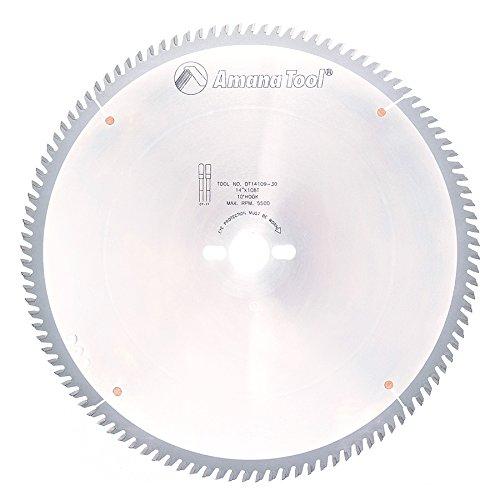 Amana Tool DT14109-30 Hartmetallbestückte Tischkreissägeblatt 14 Zoll D x 108T TCG, 10 Grad, 30 mm Bohrung, Kreissägeblatt