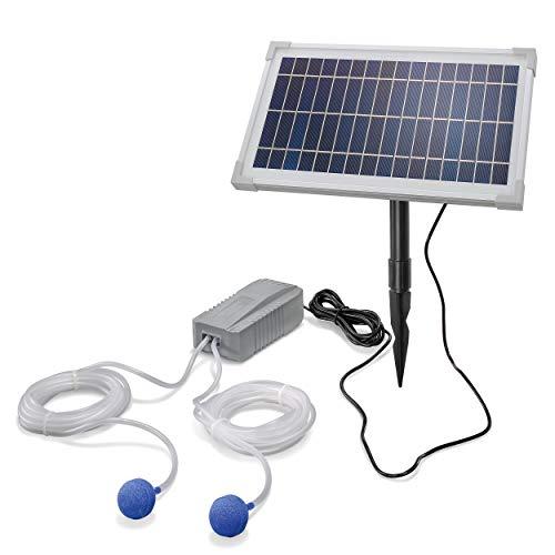 Solar Teichbelüfter Professional - 8W Solarmodul 200 l/h Luft - extragroßes Solarmodul für beste Funktion -...