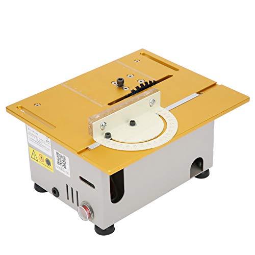 Mini-Tischkreissäge,DIY Holzbearbeitung-Desktop, Tragbare Hobby-Schneidemaschine, 96 W Tischkreissäge für Baustelle, Kompakte Tisch-Holzsägen für Schmuckherstellung, Bohren, Basteln(Weiß)