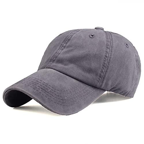 HutBaseball Kappe Marke Baseballmützen Feste Jeans Hüte Sonnencreme Baseballmütze Männer oder Frauen Knochen Hip-Hop-Mützen grau