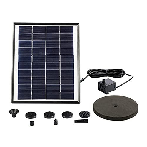 YOPOTIKA Solar Powered Wasserpumpe Kit 5W 400L/ H Solar Schwimm Brunnen für Garten Teich Vogel Bad Wasser Zirkulation