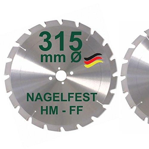 HM Sägeblatt 315 x 30 mm NAGELFEST FF Hartmetall FSP Kreissägeblatt 315mm für Bauholz Brennholz Schalholz...