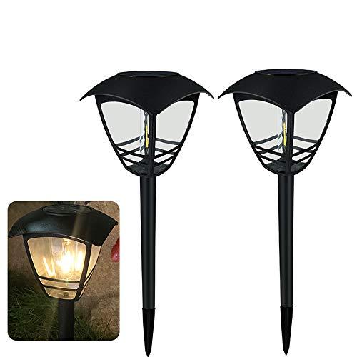 Chao Zan LED Warmweiß Solarlampe für Außen,Wasserdicht IP65,Automatische EIN/Aus Außen Warmlicht,für Außen Garten,Garage, Auffahrt,Pfad,Terrasse,Rasenlichter,Hof & Balkon(2 Stücke)